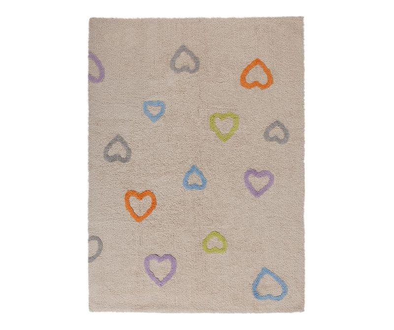 Hearts Beige Szőnyeg 120x160 cm