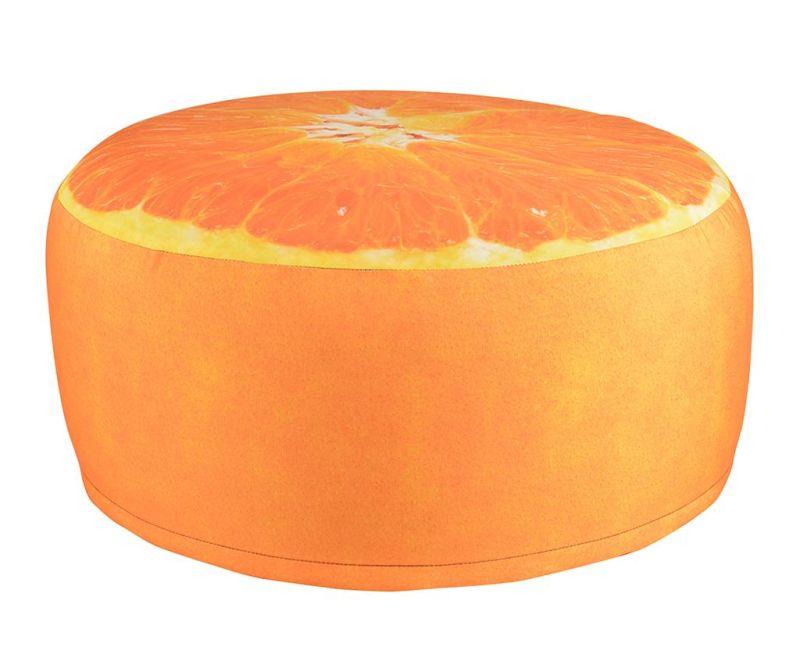 Надуваем пуф Orange
