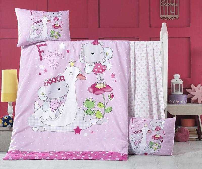 Otroška posteljnina Ranforce Supreme White Swan