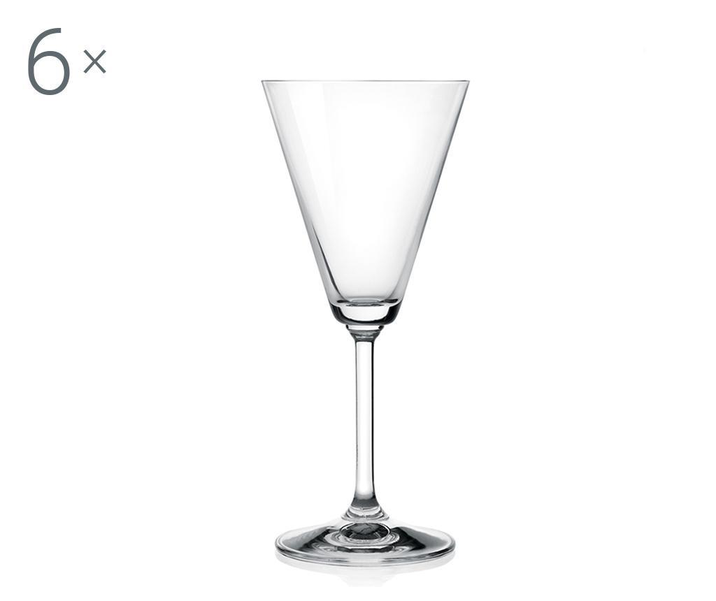 Set 6 kozarcev za vino Jazz 160 ml