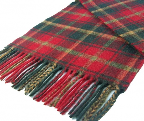 Zimski šal Red & Green 25x190 cm
