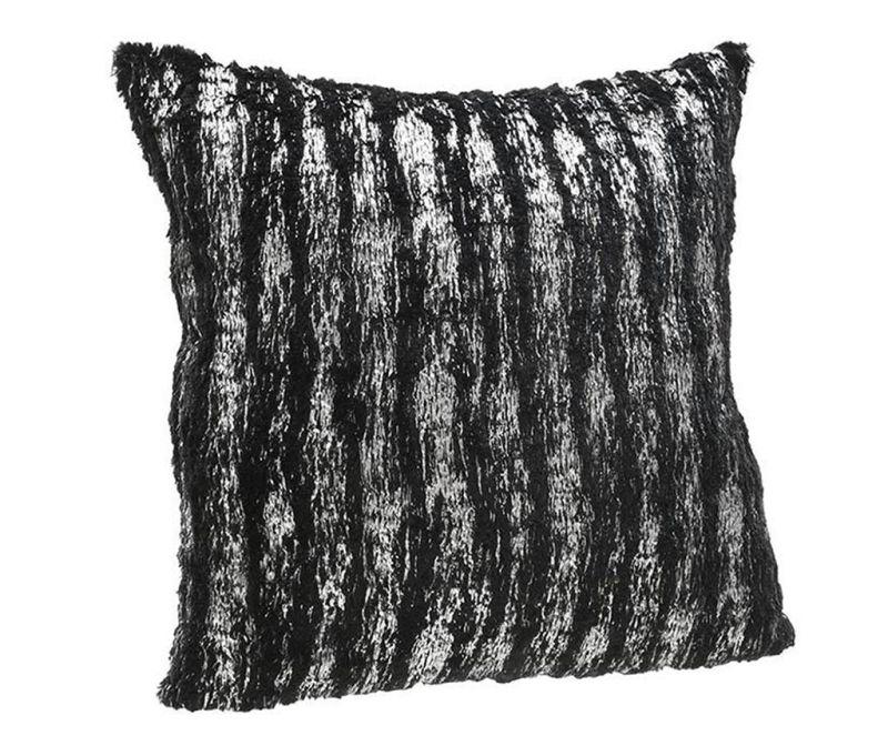 Imogen Black Silver Díszpárna 45x45 cm