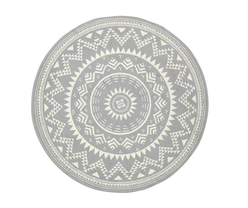 Preproga Valencia Grey Cream Round 140 cm
