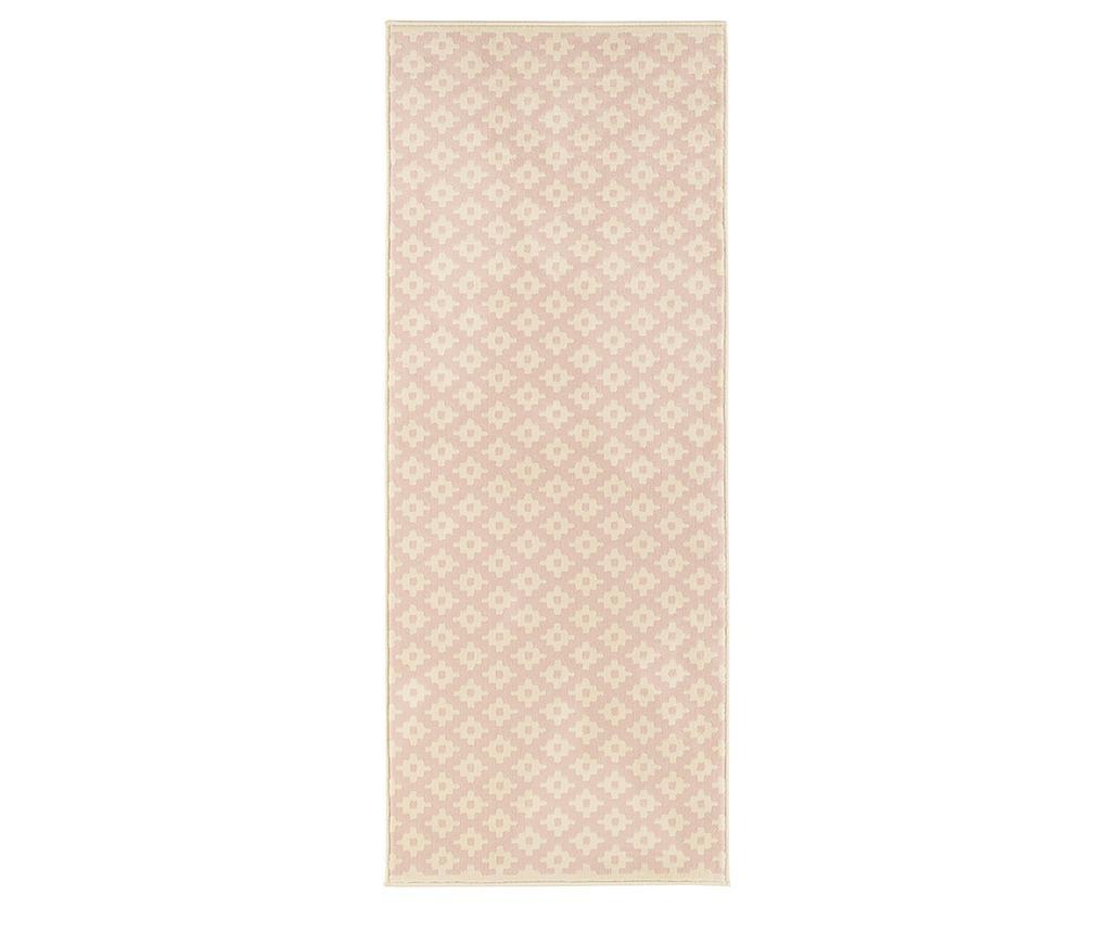 Covor Lattice Rosa Cream 80x150 cm