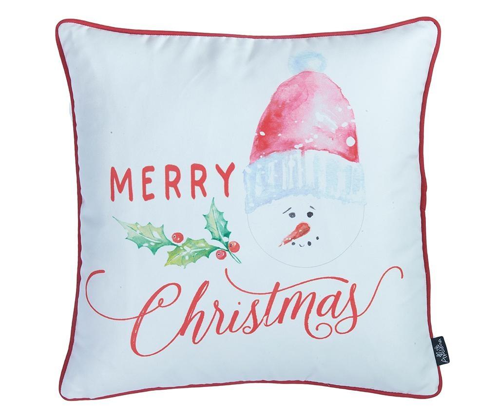 Fata de perna Merry Christmas Snowman 45x45 cm