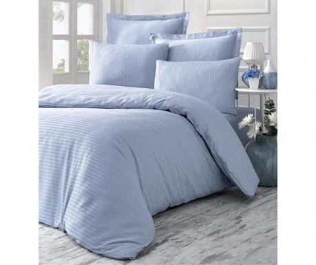 Спално бельо King Supreme Satin Jacquard Line Blue