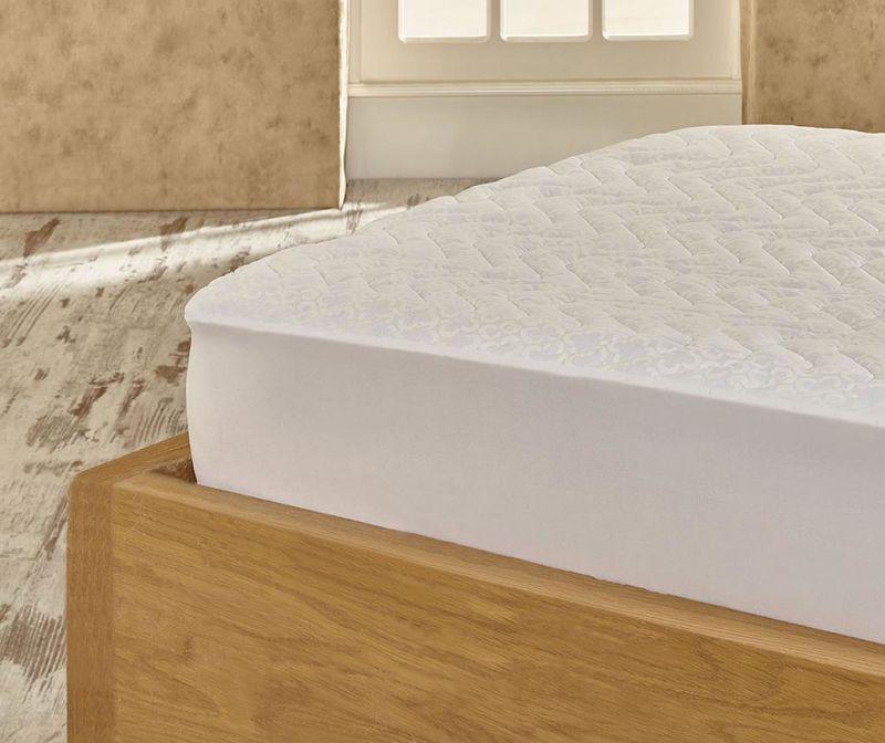 Prošivena zaštita za madrac Marie Claire Helenie White 160x200 cm