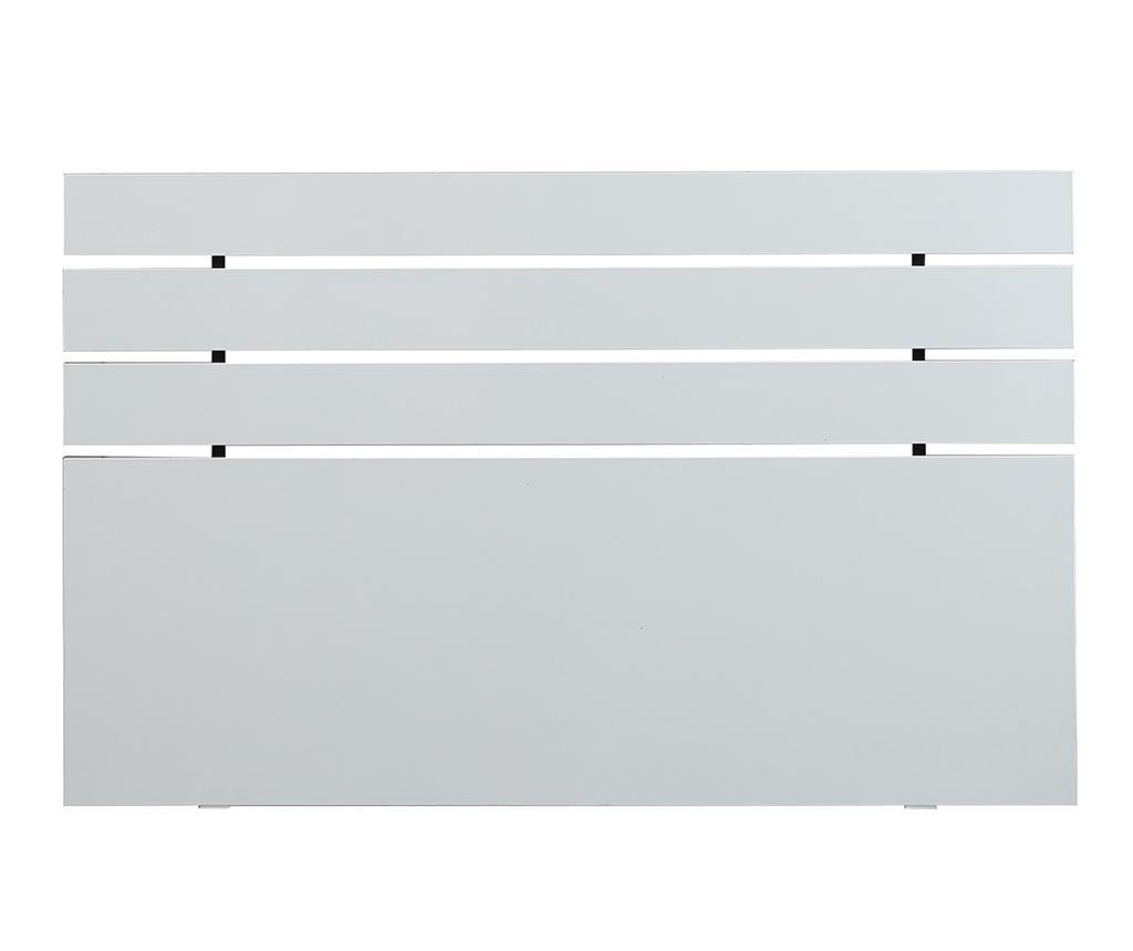 Uzglavlje kreveta Fuga Shiny White 100x140 cm