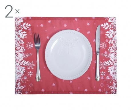 Комплект 2 подложки за хранене Kizzy Red 33x45 см