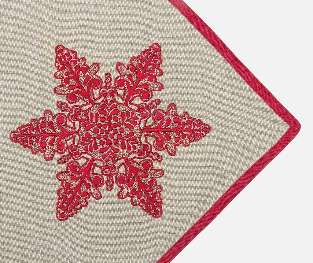 Traversa de masa Krizia Red Star 40x150 cm