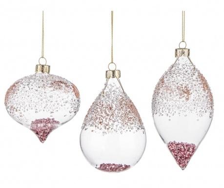 Sada 6 dekoračných gúľ sandy Pink