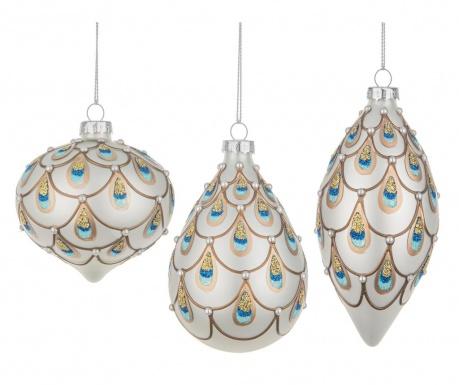 Sada 6 dekoračných gúľ Orient