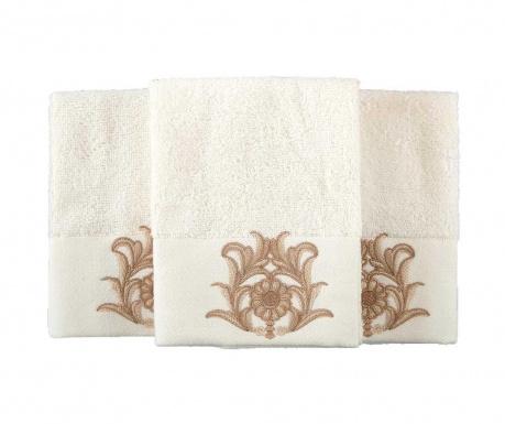 Комплект 2 кърпи за баня Calisto Cream 50x90 см