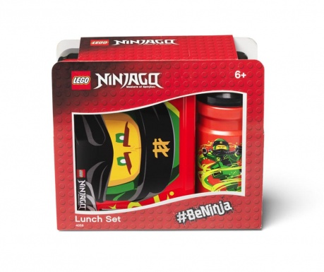 Sada obedár a športová fľaša Ninjago Red and Black