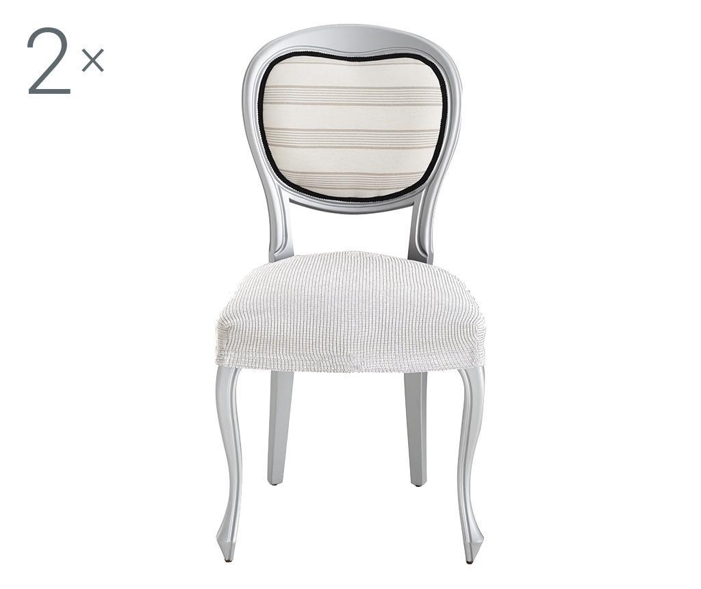 Set 2 huse elastice pentru scaun Ulises Ecru