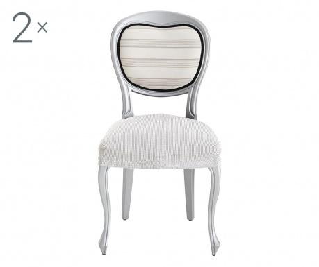 Σετ 2 ελαστικά καλύμματα καρέκλας Ulises Ecru