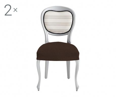 Σετ 2 ελαστικά καλύμματα καρέκλας Ulises Brown