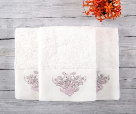 Комплект 3 кърпи за баня Adore White 30x50 см