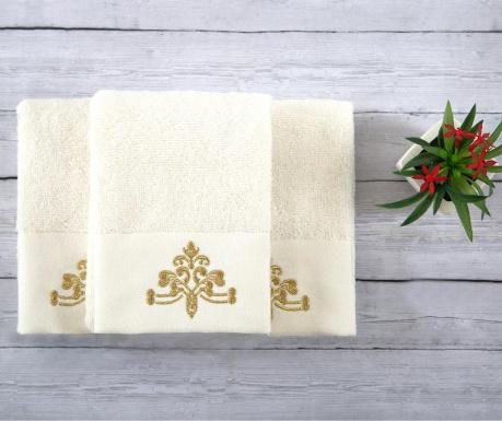 Комплект 3 кърпи за баня Dora Ecru 30x50 см