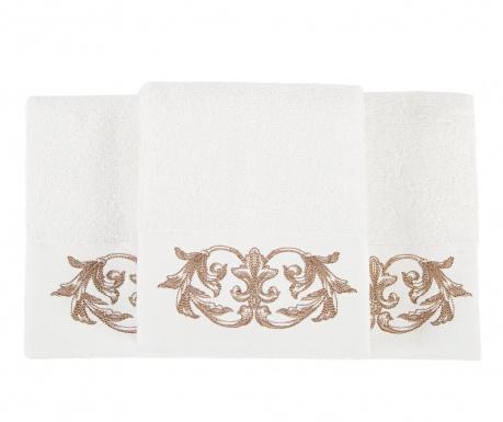 Комплект 3 кърпи за баня Queen Ecru 30x50 см