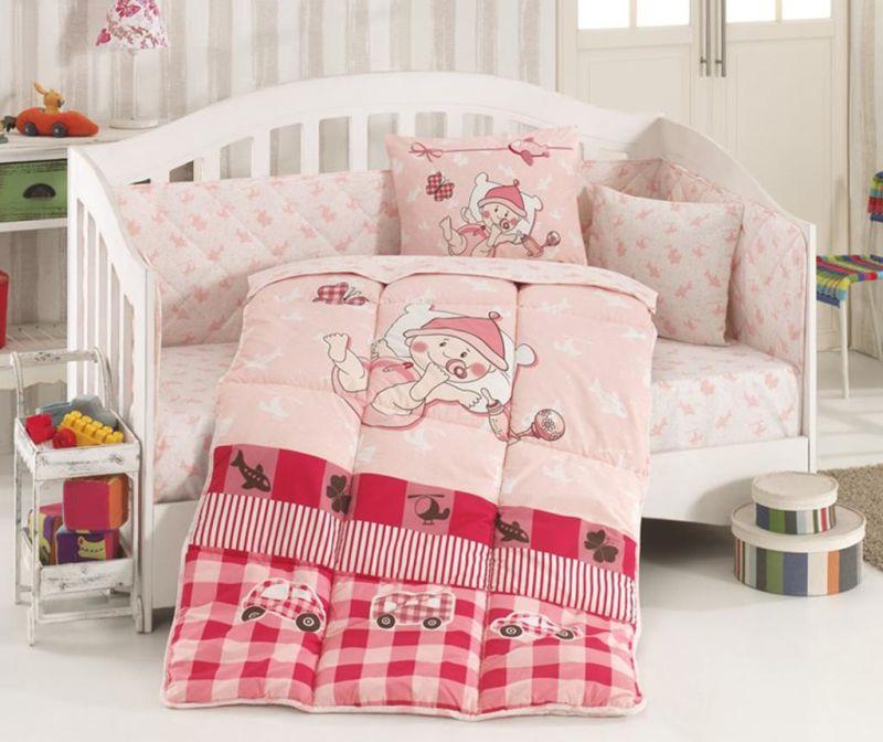 Otroška posteljnina in prešita odeja Ranforce Hug Me Pink