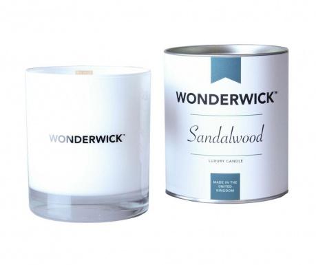 Dišeča sveča Wonderwick Sandalwood Blanc