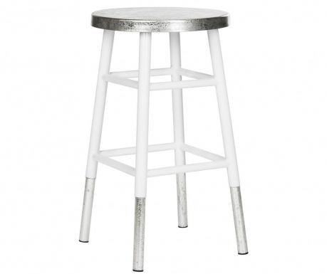 Krzesło barowe Lombardo White Silver