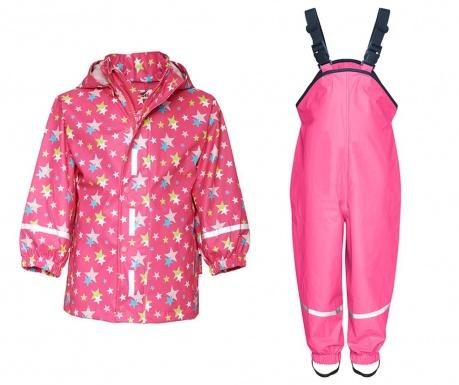 Komplet - otroška vodoodporna jakna in kombinezon Stars Allover 9-12 mesecev