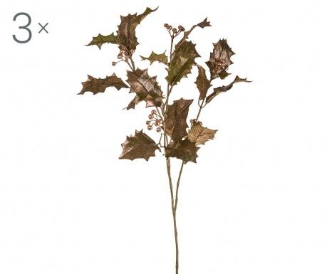 Zestaw 3 sztucznych kwiatów Bethany