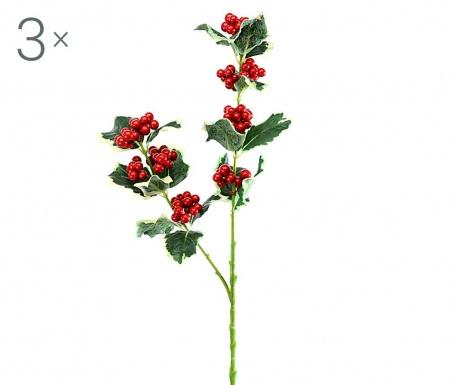 Zestaw 3 sztucznych kwiatów Brayden