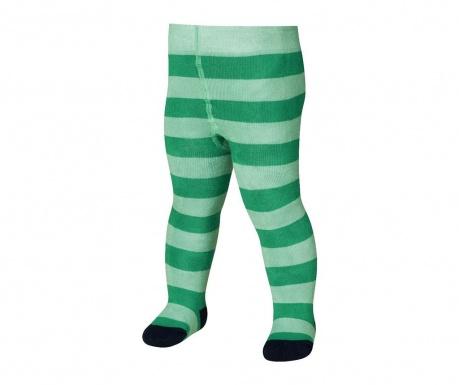 Otroške hlačne nogavice Block Stripes Green 4-5 let