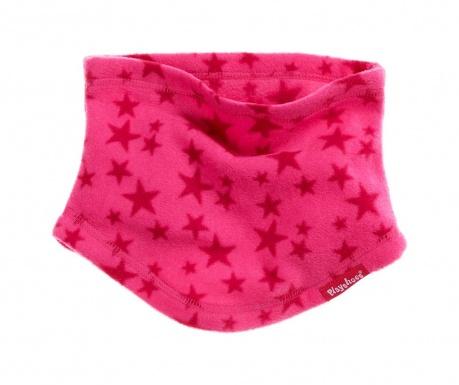 Dětská kruhová šála Stars Pink