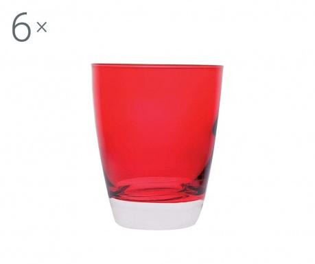 Sada 6 pohárov Happy Red 300 ml