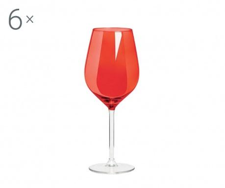 Sada 6 pohárov na víno Rolando Red