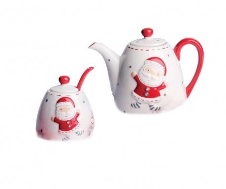 Sada čajník, cukornička a ližička Christmas Country