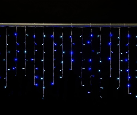 Svetlobna zavesa Proline Icicle Blue Light