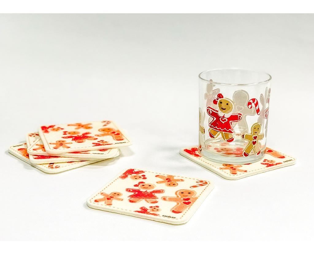 Set 6 podmetača za čaše Ginger