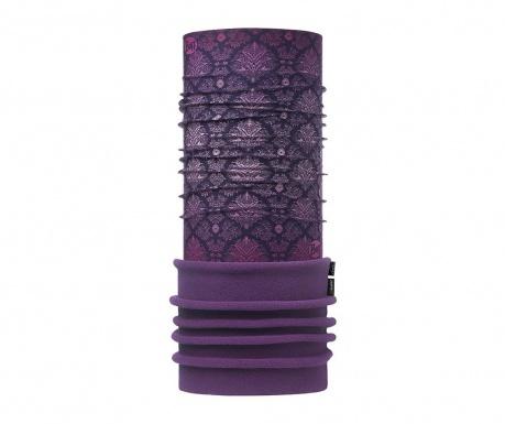 Kruhová šála unisex Buff Damask Purple 24x75 cm
