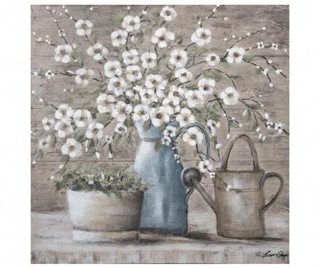 Картина Flowers 100x100 см