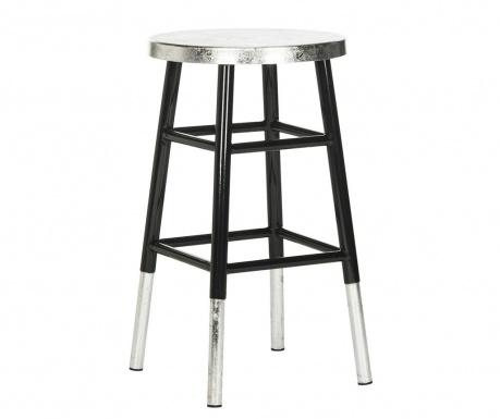 Krzesło barowe Lombardo Black Silver