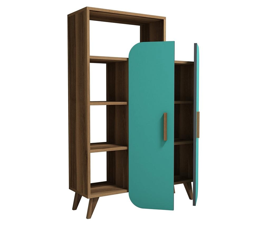 Regal za knjige Form  Walnut Turquoise