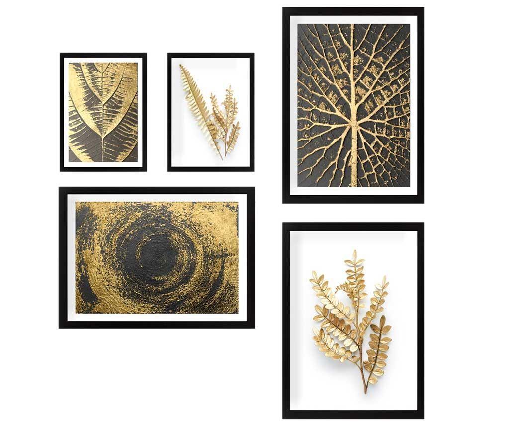 Set 5 slika Nature Gold