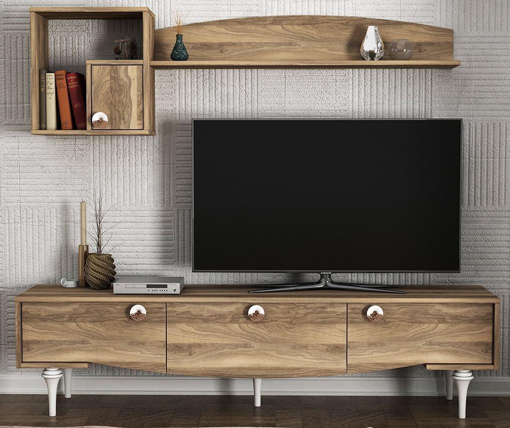 Set - TV komoda in viseči element Kumsal