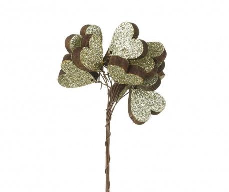 Decoratiune Silver Heart Stick