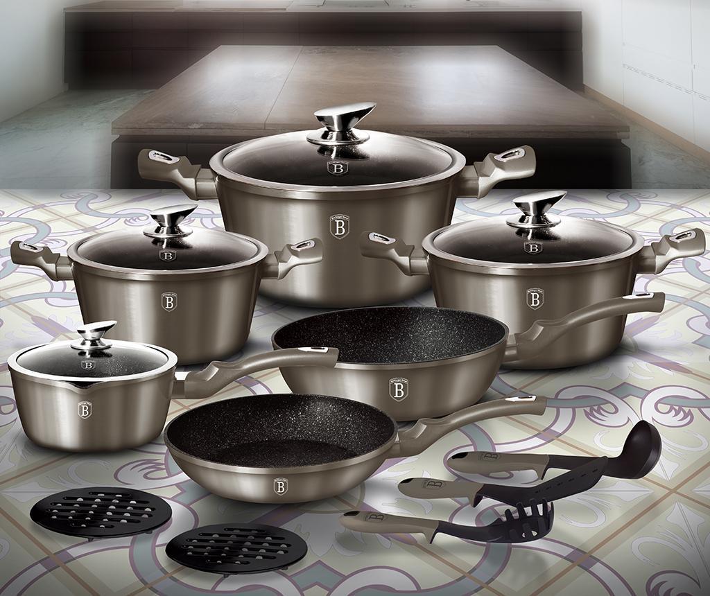15-dijelni set posuda za kuhanje Royal Carbon