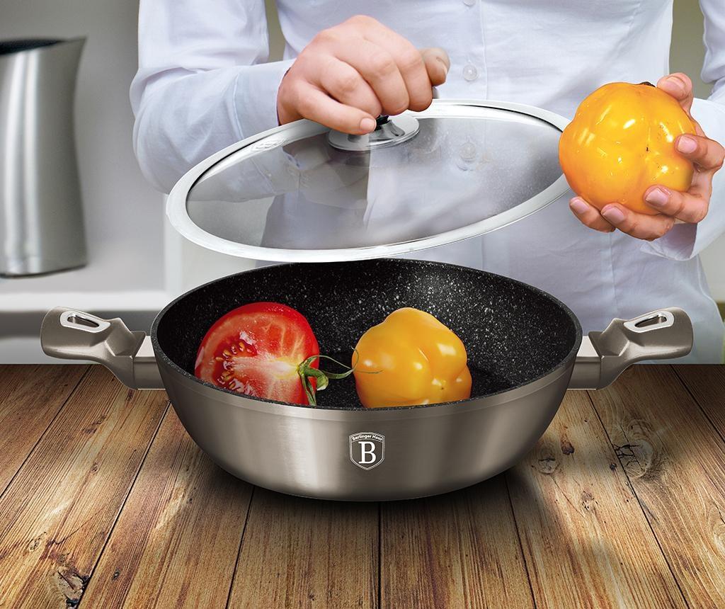Posuda za kuhanje s poklopcem Shallow Metallic 2.3 L