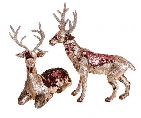 Комплект 2 декорации Sequins Reindeer