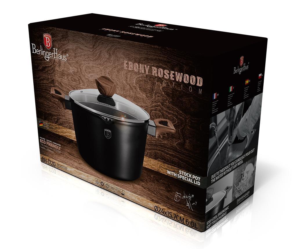 Posuda za kuhanje s poklopcem Ebony Rosewood Line 6 L