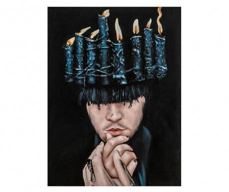 Obraz Candles Hat 90x120 cm