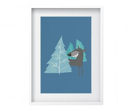 Wolf Blue Kép 24x29 cm